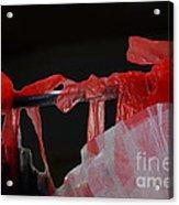 Red Ribbons Acrylic Print