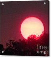 Red Ring Sunset Two Acrylic Print