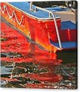 Red Rippling Acrylic Print