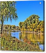 Red River Beginning Fall Acrylic Print