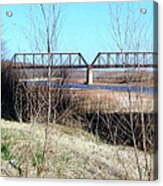 Red River I 35 Train Trussell Acrylic Print