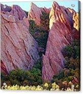 Red Rock Autumn Acrylic Print