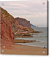 Red Rock By Sea Of Cortez From San Carlos-sonora Acrylic Print