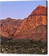 Red Rock Canyon Pano Acrylic Print by Jane Rix