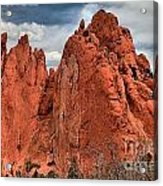 Red Rock Cluster Acrylic Print
