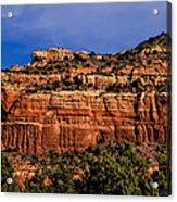 Red Rock Crag Acrylic Print