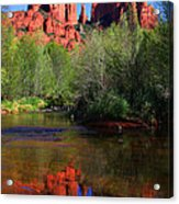 Red Rock Crossing Reflections Acrylic Print