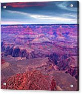 Red Rock Dusk Acrylic Print