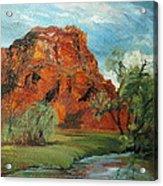 Red Rock Acrylic Print by Jolyn Kuhn