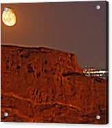 Red Rock Moon Acrylic Print