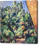 Red Rock Acrylic Print by Paul Cezanne