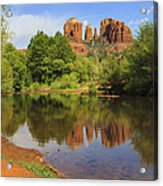 Red Rock Reflection Acrylic Print