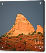 Red Rock Rising Acrylic Print