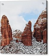 Red Rock Snow Sedona Acrylic Print