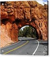 Red Rock Tunnel Acrylic Print