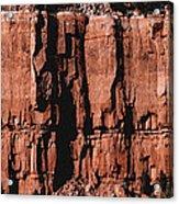 Red Rock Wall Acrylic Print