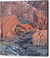 Red Rocks Amphitheater On Fire Acrylic Print