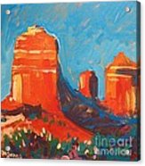 Red Rocks At Sedona Acrylic Print