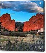 Red Rocks At Sunrise Acrylic Print