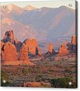Red Rocks In Arches National Park Acrylic Print