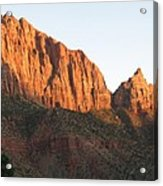 Red Rocks Of Zion Park Acrylic Print