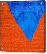 Red Rocks Original Painting Acrylic Print