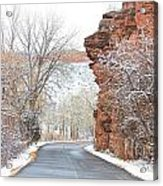 Red Rocks Winter Landscape Drive Acrylic Print by James BO  Insogna