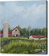 Red Roof Barns Acrylic Print