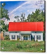 Red Roof Charm Acrylic Print