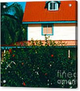 Red Roof Home Acrylic Print