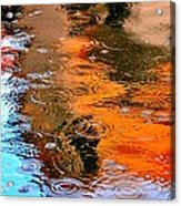 Red Roof Tile Reflection 29412 Acrylic Print