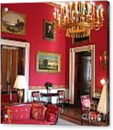Red Room White House Acrylic Print