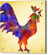 Red Rooster Art Acrylic Print