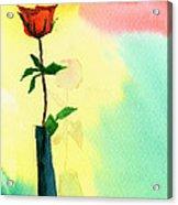 Red Rose 1 Acrylic Print by Anil Nene