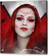 Red Rose Fairy Acrylic Print
