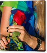 Red Rose - Featured 3 Acrylic Print