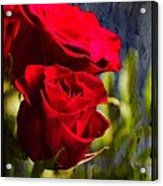 Red Rose Floral Acrylic Print