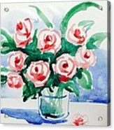 Red Rose For Her Acrylic Print