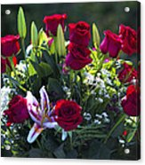 Red Roses Say I Love You Acrylic Print