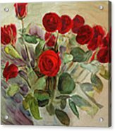 Red Roses Acrylic Print by Tanya Byrd