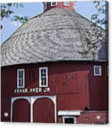 Red Round Barn With Cupola Acrylic Print