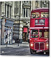 Red Routemaster Acrylic Print