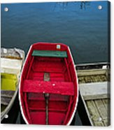 Red Rowboat Acrylic Print