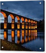 Red Royal Border Bridge Acrylic Print
