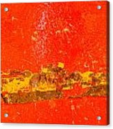 Red Rusty Backgound Acrylic Print