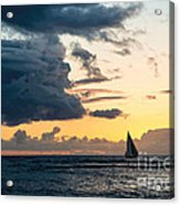 Sails In The Sunset Acrylic Print