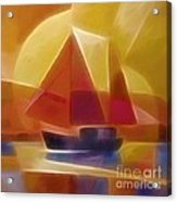 Red Sails Acrylic Print by Lutz Baar