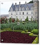 Red Salad And Cabbage Garden - Chateau Villandry Acrylic Print