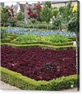 Red Salad And Roses - Chateau Villandry Garden Acrylic Print