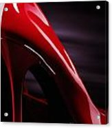 Red Sexy High Heels Abstract Acrylic Print by Oleksiy Maksymenko